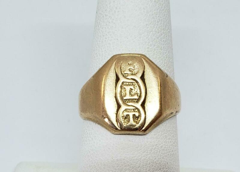 10k Yellow Gold Odd Fellas 3 Rings Handmade Ring Size 7.5