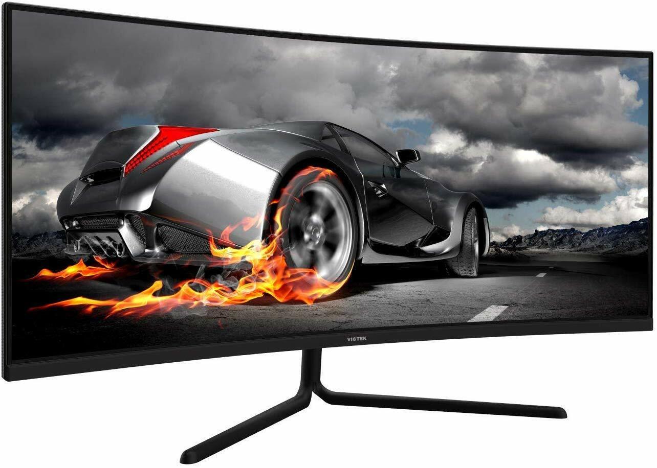 "VIOTEK GNV34CB 34"" Ultrawide Curved Gaming Monitor 1080P 100"