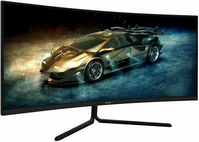 "VIOTEK GNV34DB 34"" Ultrawide Curved Gaming Monitor VA Panel 100Hz 1440p FreeSync"
