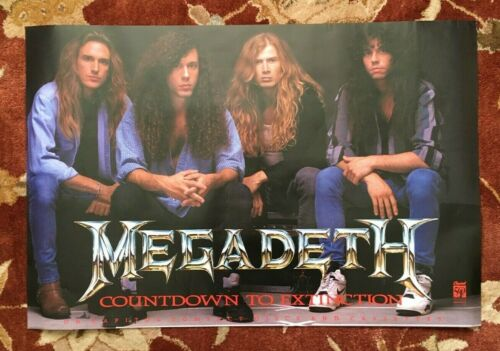 MEGADETH  Countdown To Extinction  rare original promotional poster