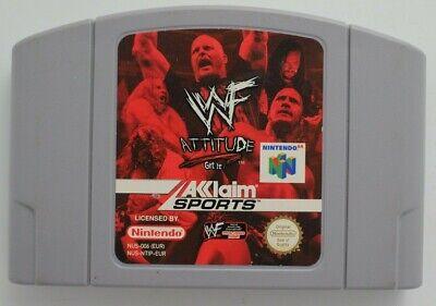 WWF Attitude for Nintendo 64 **100% ORIGINAL** N64 CART