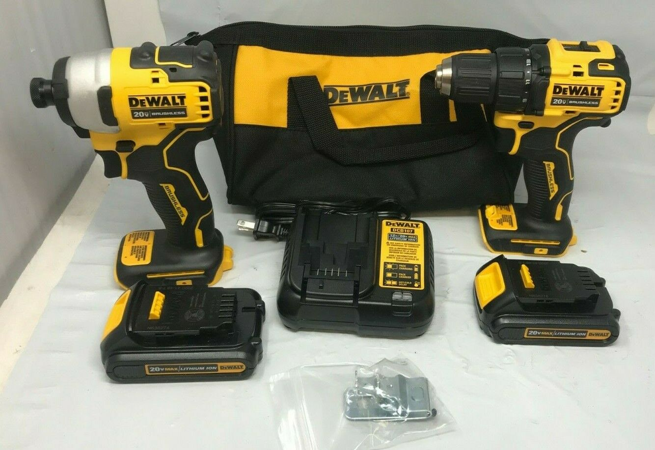 DEWALT DCK278C2 ATOMIC 20V MAX 2-Tool Brushless Combo Kit, N