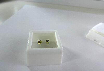 2 loose Yellow Diamonds. Very nice and clean .20tcw