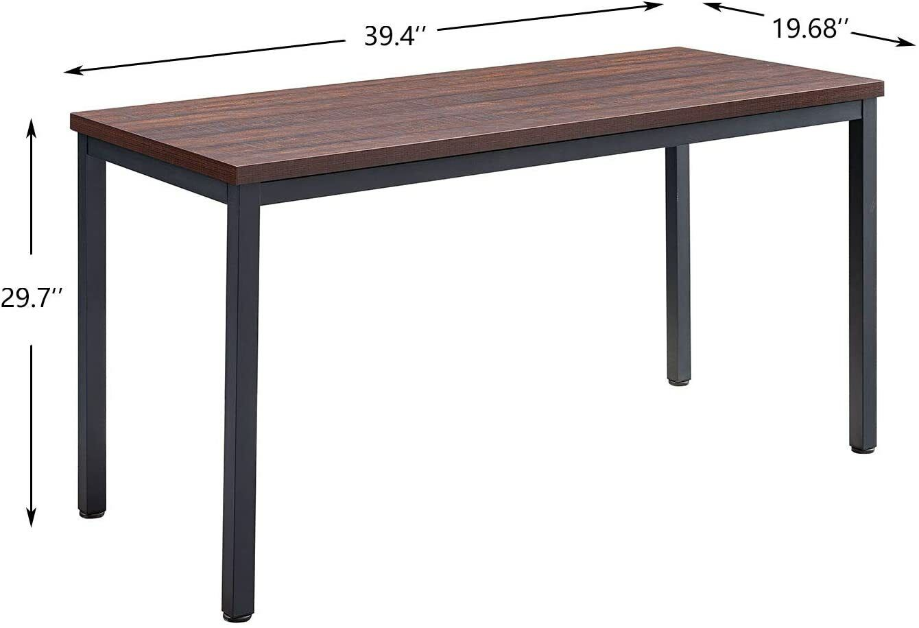 Home Office Writing Desk , Sturdy Desk for Study PC Simple Executive Table Furniture