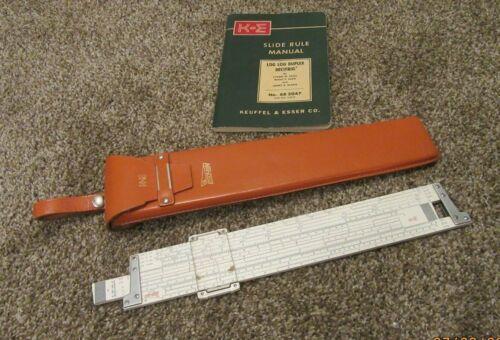 1991 Vintage K&E DECI-LON 68-1100 SLIDE RULE w/Original Case  KEUFFEL & ESSER