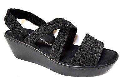 TS shoes TAKING SHAPE sz 10 / 41 Olympia Wedge super-comfy black wide NIB rp$120