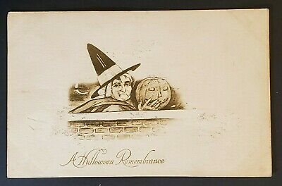 Halloween 1910 Movie (1910 Indianapolis IN to Chicago IL Halloween Remembrance Picture Postcard)