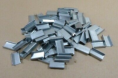 Qty 100 Pcs. 12 X 1 Heavy Duty Steel Strap Strapping Banding Clip Seal