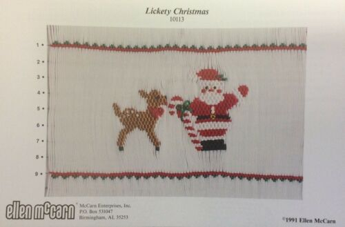 ELLEN MCCARN SMOCKING PLATE #10113 LICKETY CHRISTMAS