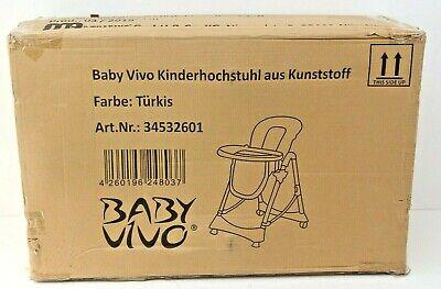 Baby Vivo Kinderhochstuhl aus Kunststoff Türkis NEU inkl.Rechnung mit MwSt