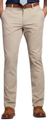 Mens Chino Pants Cotton Skinny Slim Fit Stretch Casual Trousers All Waist Sizes:
