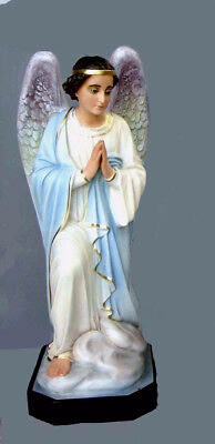 Angelo In Adorazione Dx Fiberglass Statues Cm 110 44