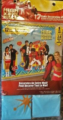 NEW High School Musical Giant Decorating Kit For An Entire Wall 12' Long (High School Musical Decorations)