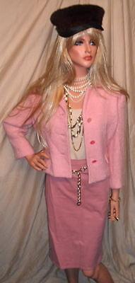FASHION ALERT!!!!!!  RARE Vintage TREASURE 60's PINK Boucle' Jacket WOW WOW WOW!