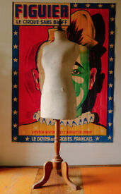 VINTAGE RETRO ELEGANT ANTIQUE STOCKMAN PARIS FRENCH TAILORS DUMMY MANNEQUIN