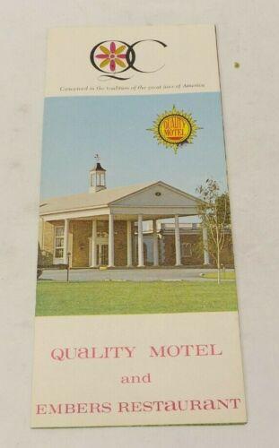 Vintage Quality Motel & Embers Restaurant, Carlisle Pennsylvania Brochure