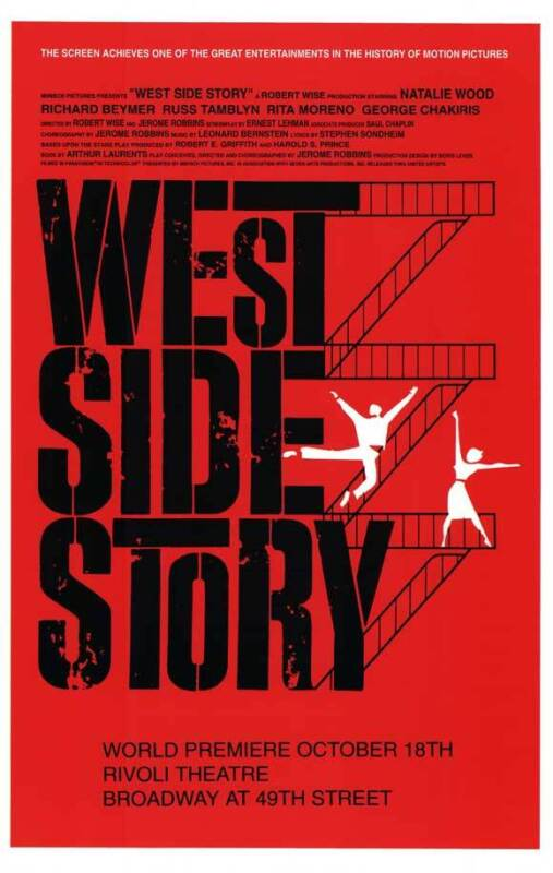WEST SIDE STORY (BROADWAY) Movie POSTER 27x40