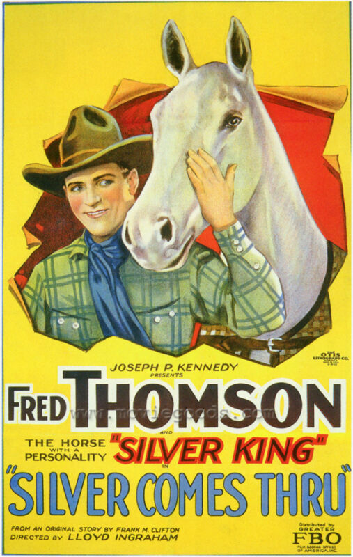 SILVER COMES THRU Movie POSTER 27x40 Fred Thomson Edna Murphy William Courtright