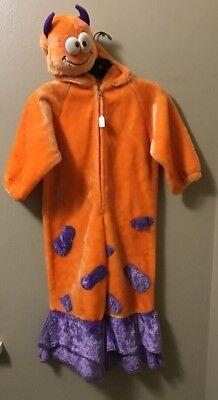 Chosun Faux Fur Orange Purple Monster Halloween Costume Kids Child Sz 3-5 - Purple Monster Costume