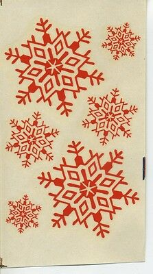 vtg impko water decal red snowflake design decorative hot rod motorcycle - Snowflake Pole Decoration