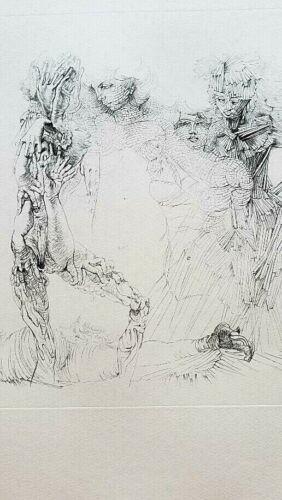 """Hans Bellmer, """"Les Quatre Filles"""" original 26"""" x 20"""""""