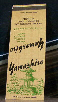 Vintage Matchbook Cover A5 California Hollywood Yamashiro Japanese Fine Dining