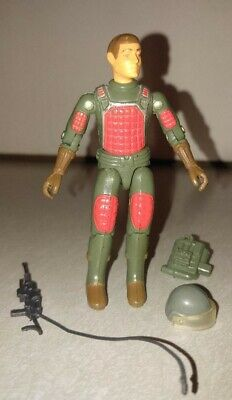 GI Joe Flash 1982 Straight Arm 100% Complete No Break Stiff Joints Black Gun SA (Cheap Toy Guns)