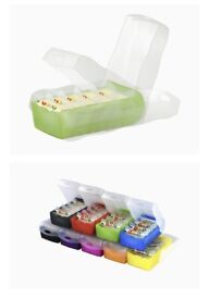 CROCO Flashcard Index Box.For learning vocabulary in an ingeniously simple way, A7, translucentGREEN