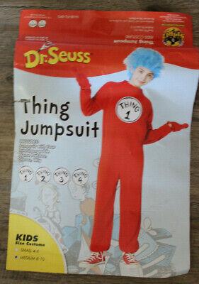 Spirit Costume Dr. Seuss Kids Thing 2 Jumpsuit Dress up Halloween Sz: M 8-10
