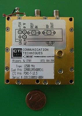 Herley Cti Phase Locked Pdro Precision Oscillator 12500 Mhz 12.5 Ghz Tested