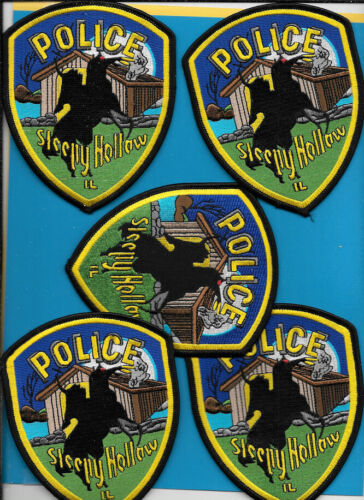 LOT OF 5 POLICE PATCH LOT OF SLEEPY HOLLOW ILL IL POLICE DEPT HEADLESS HORSEMAN