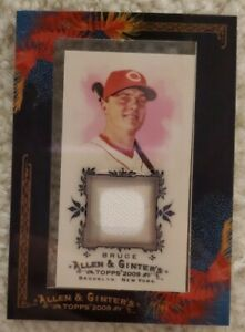 2009-Allen-amp-Ginter-Jay-Bruce-AGR-JB-Jersey-Cincinnati-Reds-Framed-Mini