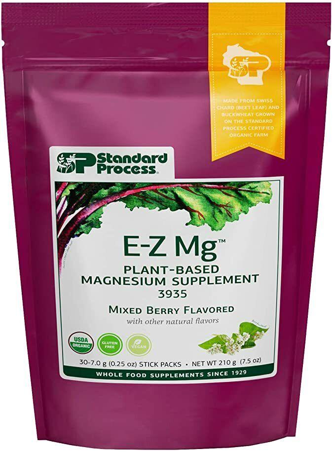Standard Process EZ-Mg Organic Plant-Based Magnesium 30ct Gluten-Free Vegan