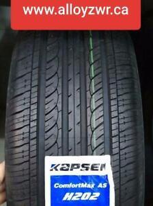 4 New Summer tires Kapsen 215/65r16  /  4 Pneus dete neufs Kapsen 215/65/16  OPEN 7 DAYS     1CONSK19