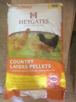 Heygates Country Layers Pellets 20kg     A Complete Free Range Poultry Feed