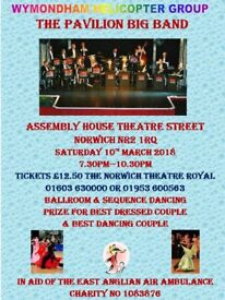 Charity dance with Pavilion Big Band raising funds for East Anglian Air Ambulance