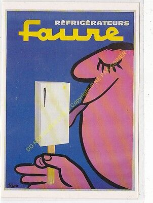 CP Postcard AFFICHE RÉFRIGÉRATEURS FAURE par Réno Edit BIBLIOTHEQUE FORNEY