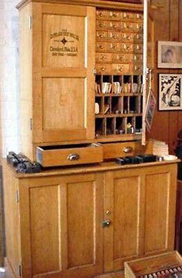 Antique Cleveland Twist Drill Company Cabinet - Light Oak - Circa 1940