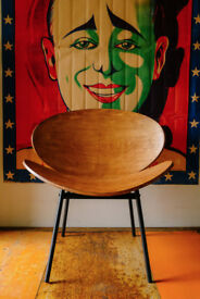VINTAGE RETRO MODERN MODERNIST BENT PLYWOOD CHAIR LOUNGE DANISH SCANDINAVIAN STYLE