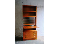 VINTAGE RETRO MID CENTURY G-PLAN GPLAN TEAK BUREAU STORAGE CHEST OF DRAWERS SHELVING