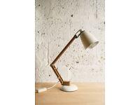 VINTAGE RETRO MID CENTURY DESK LAMP WHITE MACLAMP TERENCE CONRAN