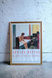 FRAMED POSTER EDWARD HOPPER HOTEL ROOM 1931 THYSSEN-BORNEMISZA MUSEUM MADRID