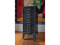 VINTAGE INDUSTRIAL ROUGH LUXE STOR FILING CABINET GREEN