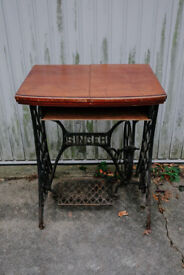 ANTIQUE VINTAGE UPCYCLED SINGER SEWING MACHINE OCCASIONAL SIDE CONSOLE TABLE