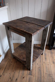 CHUNKY RUSTIC VINTAGE INDUSTRIAL KITCHEN ISLAND TABLE