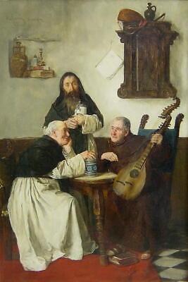 Alfons Spring 1843 - München / In der Klosterstube / Gemälde, signiert / um1890