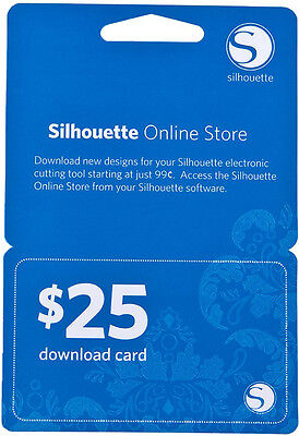 Silhouette Portrait or CAMEO $25 DOWNLOAD CARD