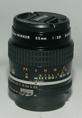 Nikon Micro NIKKOR 55mm f/2.8 Ai-S Lens, can be adapted for digital camera