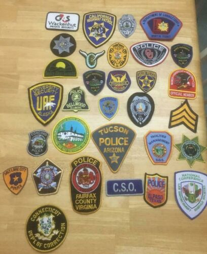 NICE LOT OF 31 LAW ENFORCEMENT PATCHES         31