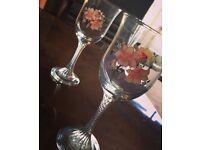 Patterned wine glasses